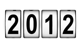 New Year 2012 counter. Isolated on white background Royalty Free Stock Images