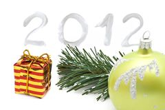 New year 2012 decoration Royalty Free Stock Photography