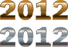 New Year 2012 design. Golden and Silver Elegance New Year 2012 wallpaper for background and design vector illustration