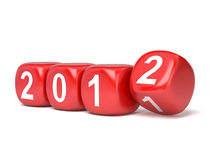 The new year 2012 in dices royalty free stock photography