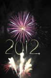 New Year 2012 fireworks. Picture of fireworks and year 2012 stock image