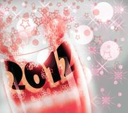 New Year 2012 glass cup Royalty Free Stock Photography