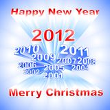 New Year 2012 light background Royalty Free Stock Image