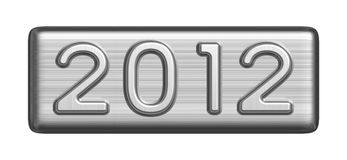 New Year 2012 metal sign. The inscription in 2012 of the metal figures vector illustration