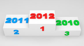 New Year 2012 on a podium. 3d Image royalty free illustration