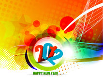 New year 2012 poster. Background. Vector illustration Royalty Free Stock Photography