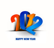 New year 2012 poster. Background. Vector illustration Stock Image