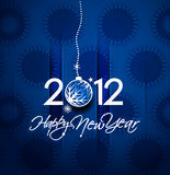 New year 2012 poster. Christmas & new year 2012 poster background. Vector illustration Stock Images