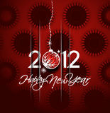 New year 2012 poster. Christmas & new year 2012 poster background. Vector illustration Stock Photography