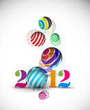 New year 2012 poster. Background. Vector illustration Stock Photos