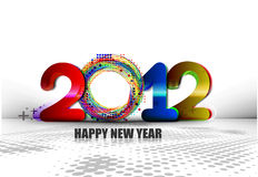 New year 2012 poster. Background. Vector illustration Stock Images