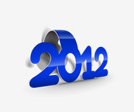 New year 2012 poster. Background. Vector illustration Royalty Free Stock Images