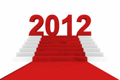 New year 2012 on a red carpet. Computer generated image Stock Image