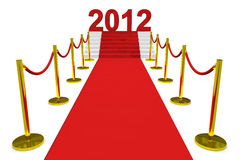 New year 2012 on a red carpet. Royalty Free Stock Images