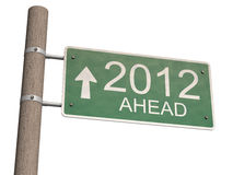 New Year 2012 sign. 3d illustration Stock Images