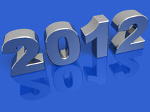New year 2012 silver Stock Image