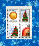 New year 2012 stamps Stock Photo