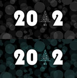 New year 2012 symbol. Two styles Royalty Free Stock Image