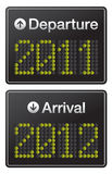 New Year 2012 terminal Airport Stock Images