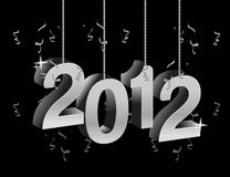New year 2012 text ornament Royalty Free Stock Photos