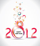 New year 2012 in white background. Abstract poster Stock Images
