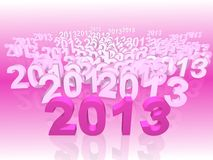New year 2013. 2013 New year calendar background royalty free illustration