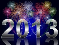 New Year 2013. Illustration of a New Year 2013 Background Royalty Free Stock Images