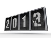 New Year 2013 _ 2. A Number board showing the change in year where previous 2 is discarded and being filled in with the new 3 to show the transformation from Royalty Free Illustration