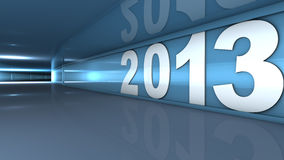 New year 2013. Concept in 3d Stock Image