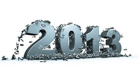 New year 2013. Concept in 3d Royalty Free Stock Photo