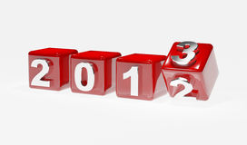 New year 2013. 3d cubes Stock Photography
