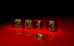 New year 2013. 3d cubes Stock Photo