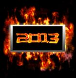 New year 2013. Illuminated sign with of new year 2013 vector illustration