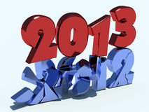 New Year 2013. 3d illustration New Year 2013 vector illustration