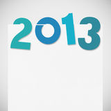 New year 2013. New year card ,paper design Royalty Free Stock Photos