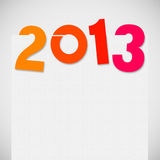 New year 2013. New year card ,paper design Royalty Free Stock Photo