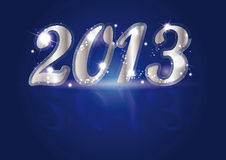 New Year 2013. Cute and elegant card on New Year 2013 Royalty Free Stock Images