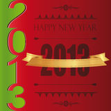 New Year 2013. Cooncept and modern card on New Year 2013 Royalty Free Stock Photography