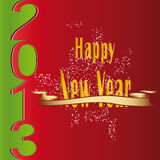 New Year 2013. Cute and modern card on New Year 2013 Royalty Free Stock Photo