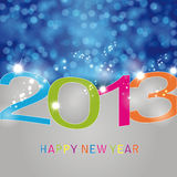New Year 2013. Cute and elegant card on New Year 2013 Royalty Free Stock Photo