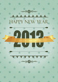 New Year 2013. Cute and elegant card in vintage style on New Year 2013 Royalty Free Stock Image