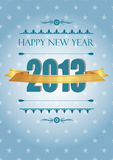 New Year 2013. Cute and elegant card in vintage style on New Year 2013 Stock Photography