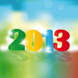 New Year 2013. Cute and colorful card on New Year 2013 Royalty Free Stock Photography