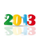 New Year 2013. Cute and colorful card on New Year 2013 Stock Photo