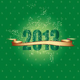 New Year 2013. Cute and elegant card on New Year 2013 Stock Image