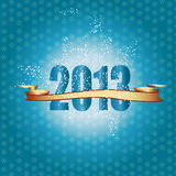 New Year 2013. Cute and elegant card on New Year 2013 Stock Photography