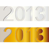 New Year 2013. Cute and colorful sticker on New Year 2013 Royalty Free Stock Photo