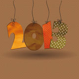 New Year 2013. Cute card on New Year 2013 with retro numbers Royalty Free Stock Photo