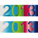 New Year 2013. Cute and colorful sticker on New Year 2013 Stock Photo