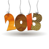 New Year 2013. Cute card on New Year 2013 with retro numbers Royalty Free Stock Photography